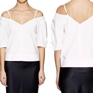 Derek Lam 10 Crosby blouse v neck poplin top